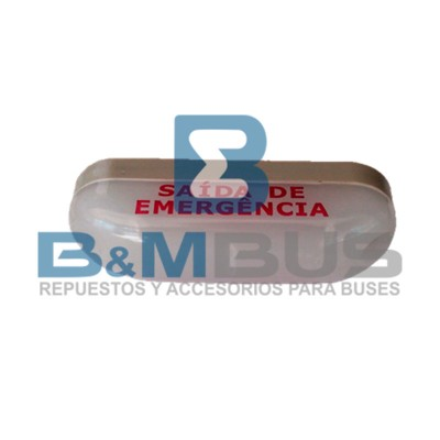 LUMINARIA SALIDA EMERGENCIA  COMIL  BLANCO/ROJO