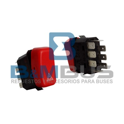 INTERRUPTOR LUZ DE ADVERTENCIA 24V BOTON ROJO