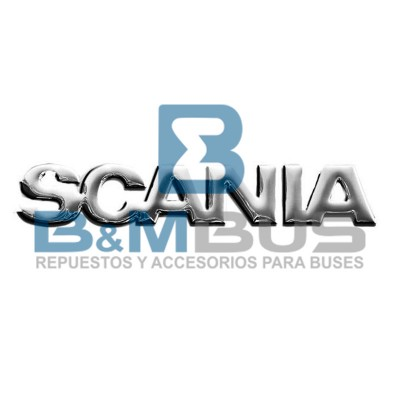 EMBLEMA SCANIA 3D PLATEADO 330x48